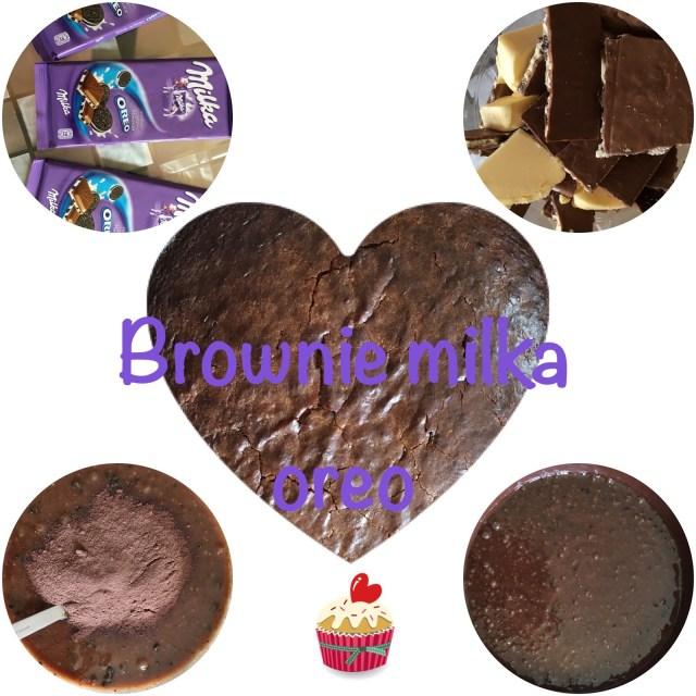 recette brownie milka oreo