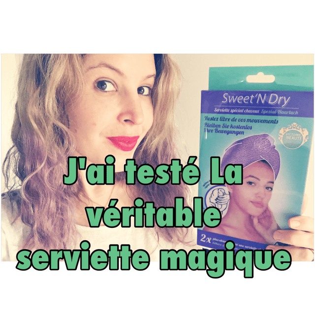 serviette sèche rapidement cheveux serviette micro fibre Sweet'n dry