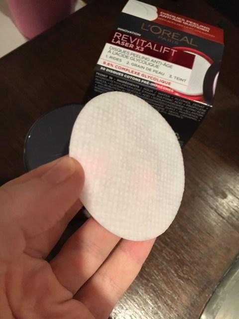 avis test disques Peeling Anti - Age Revitalif Laser 3 L'Oréal