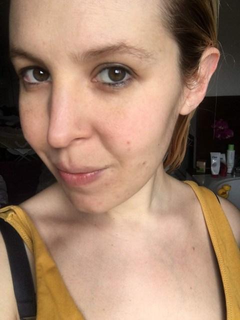 test sur mon visage gommage purifiant sucres de soin et pépins de Kiwi L'Oréal