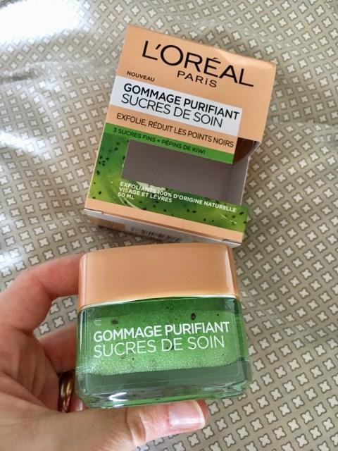 gommage purifiant sucres de soin et pépins de Kiwi L'Oréal