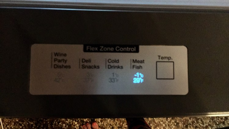 écran de contrôle du frigo américain samsung