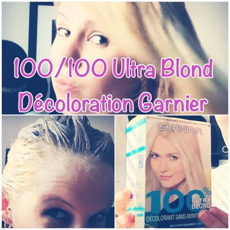 coloration garnier ultrablond 100/100 vidéo test