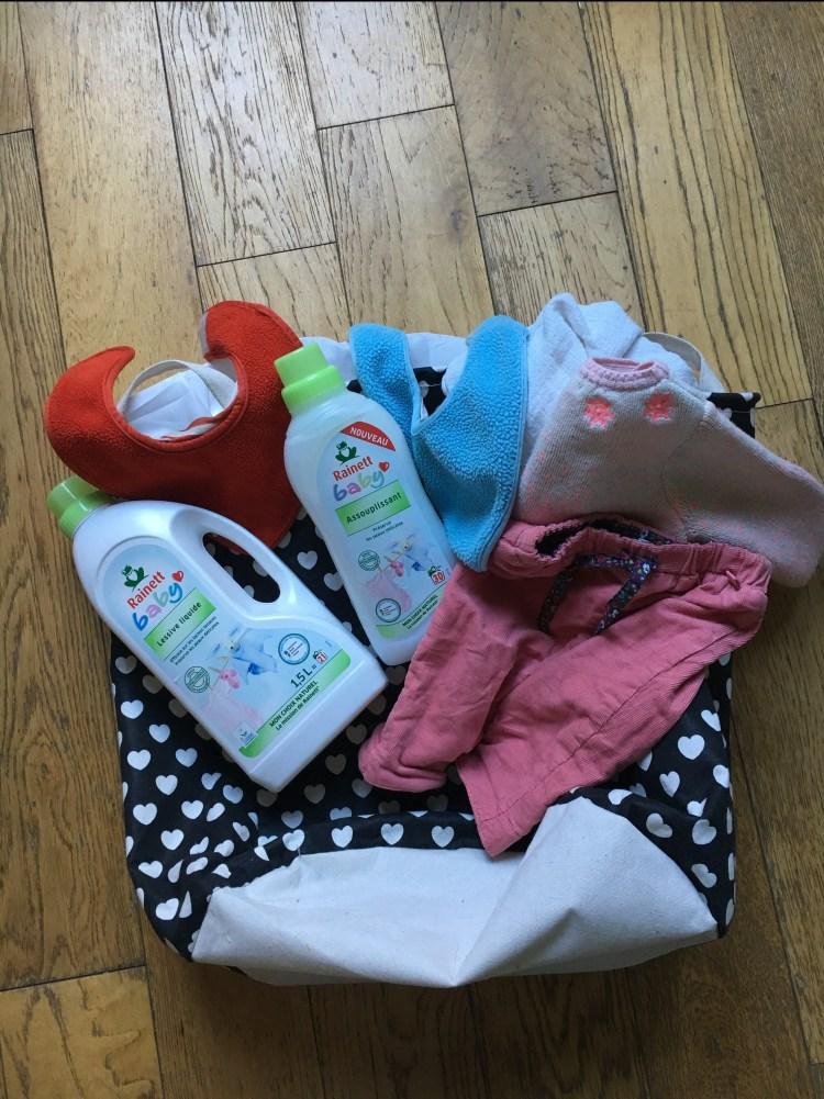 test laver son linge Rainett baby lessive liquide assouplissant