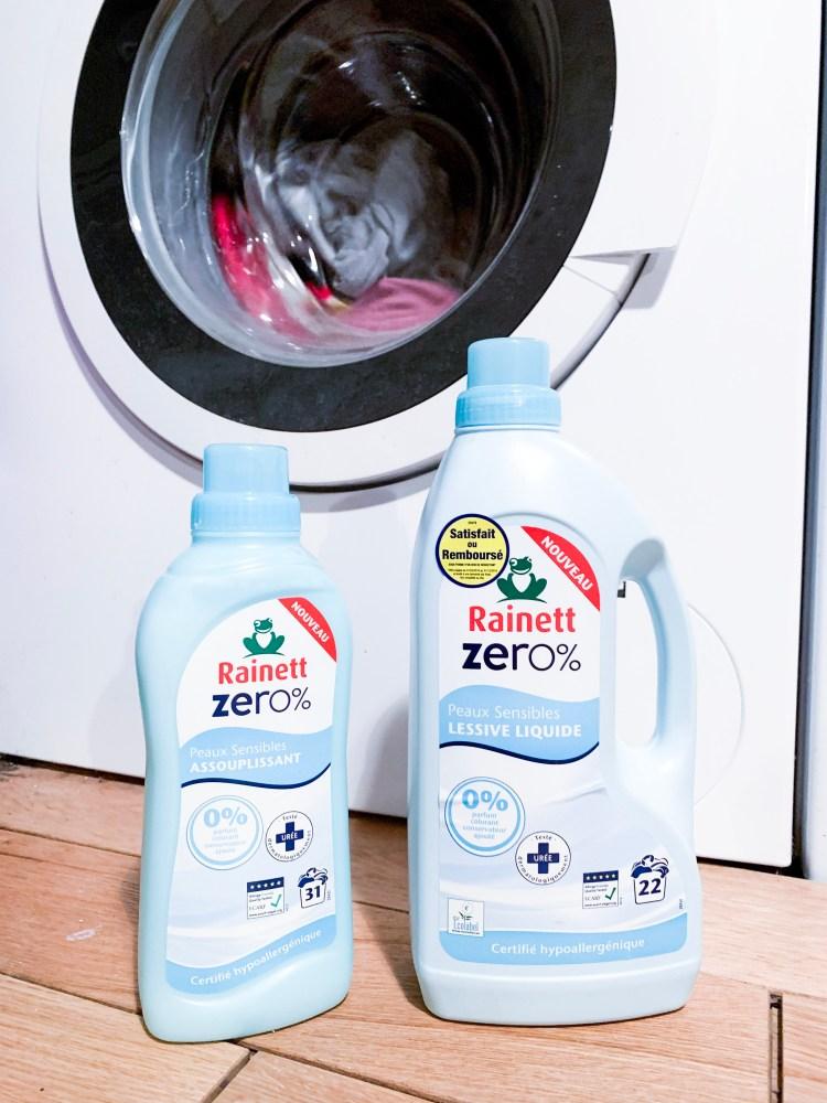 avis lessive liquide rainett zero et assouplissant zero lessive anti allergie