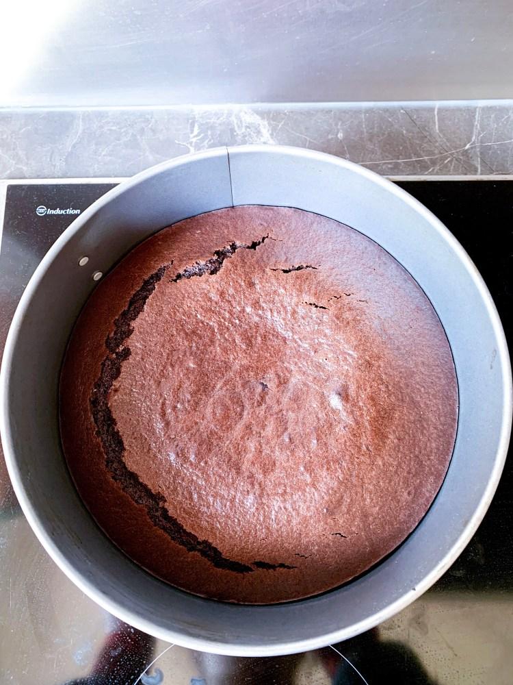 recette de gâteau au chocolat light sans beurre avec compote pommes