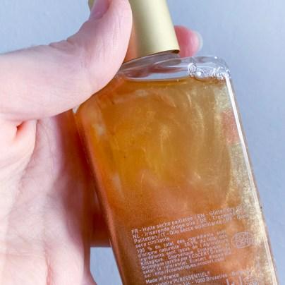 avis l'huile sèche pailletée bio Puressentiel