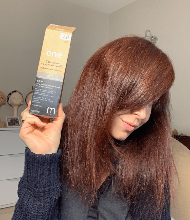 coloration temporaire cheveux cuivré 7.44 Color One Mulato