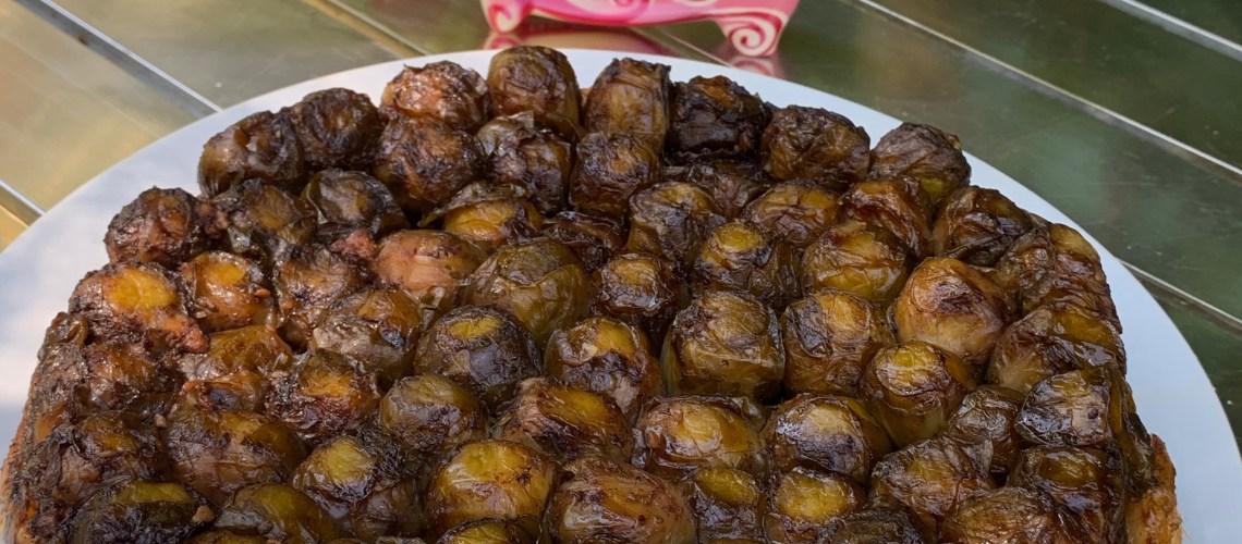 recette tarte tatin choux de bruxelles vinaigre balsamique miel