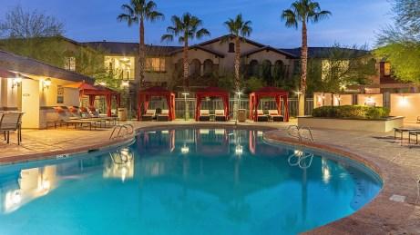 Refreshing Pool with Cabanas