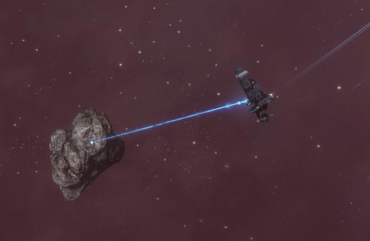 Mining a Veldspar Asteroid