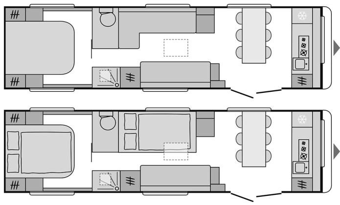 Caravanas de doble eje Dethleffs Beduin 4