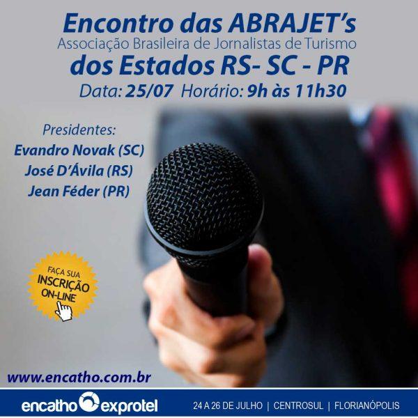 Encontro da Associação Brasileira de Jornalistas de Turismo