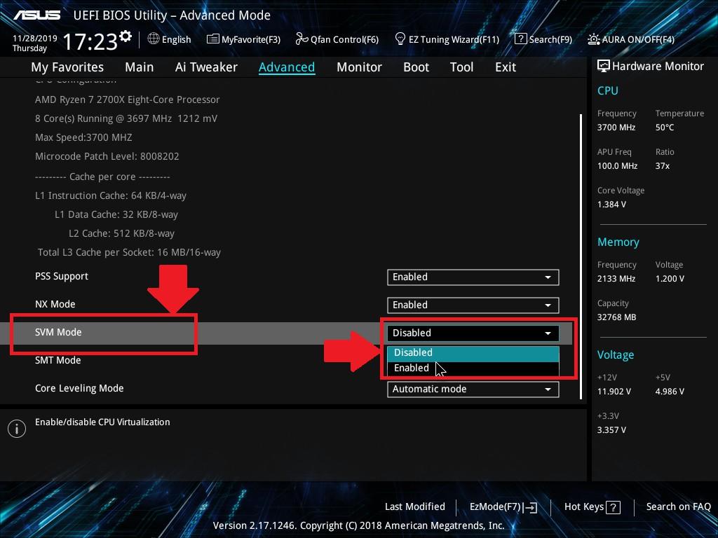 ASUS華碩電腦與筆電開啟VT(虛擬化技術)教學 - 雷電模擬器