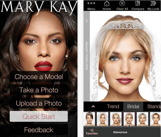 Mary Kay Virtual Makeover App - App to change hair color