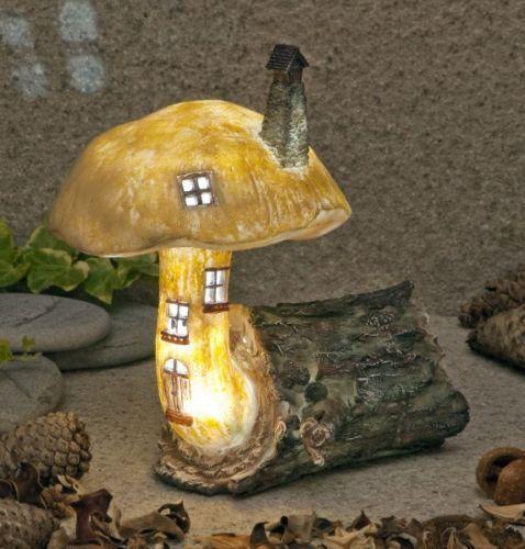 Garden Glows Solar LED Fairy House The Woodland Mushroom