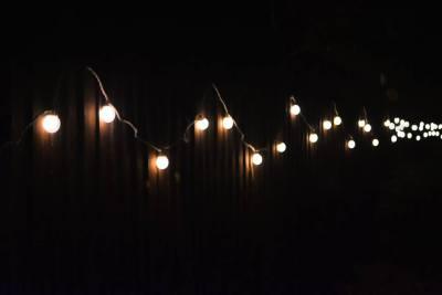 enchanted cinema halloween screenings - festoon lighting