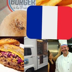 Franck serving his French street food at Enchanted Cinemas outoor screening of La La Land