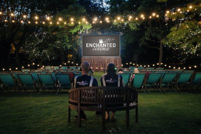 Enchanted Cinema at the Gonville Hotel screen