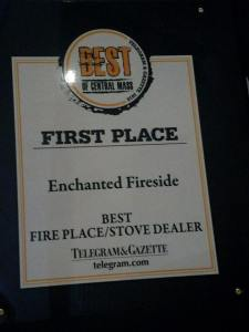 Enchanted Fireside voted best fireplace and stove shop in Worcester 2018