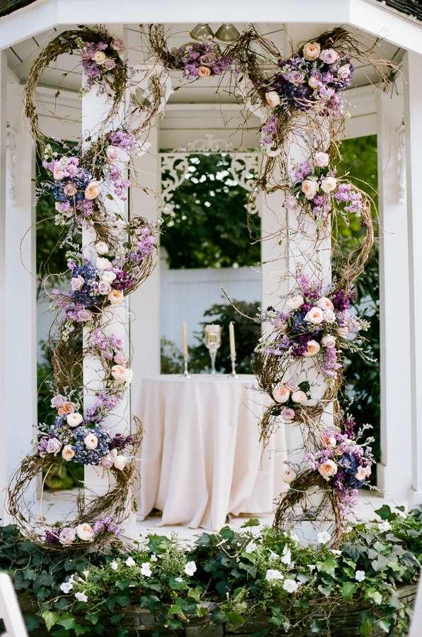 Enchanted Florist Purple Gold Fall Wedding At CJs Off