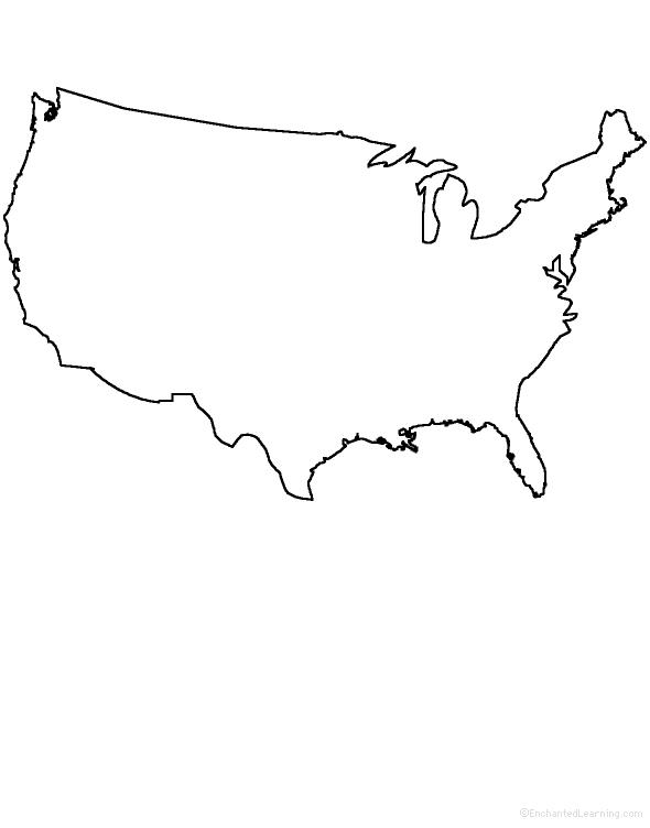 United States Drawing : united, states, drawing, GEOGRAPHY, EnchantedLearning.com