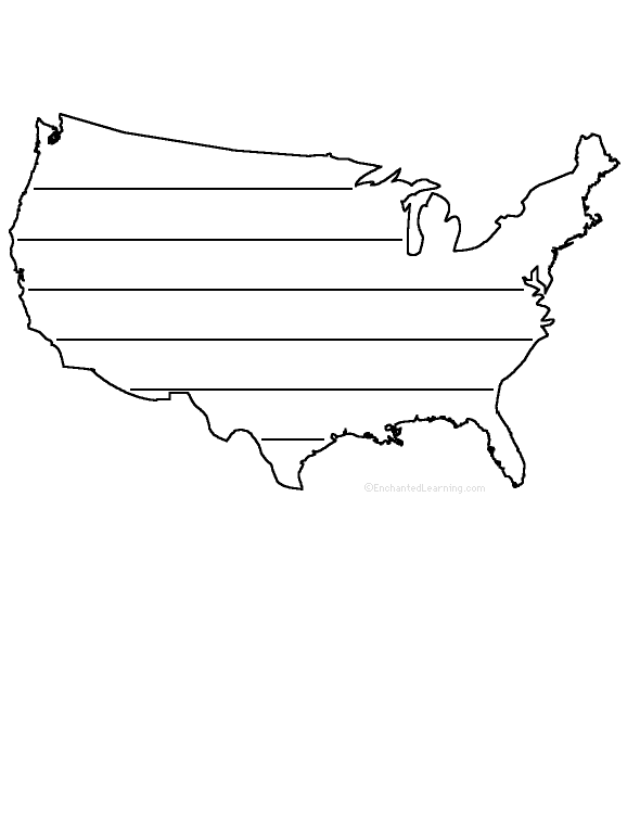 Usa Outline Png : outline, GEOGRAPHY, EnchantedLearning.com