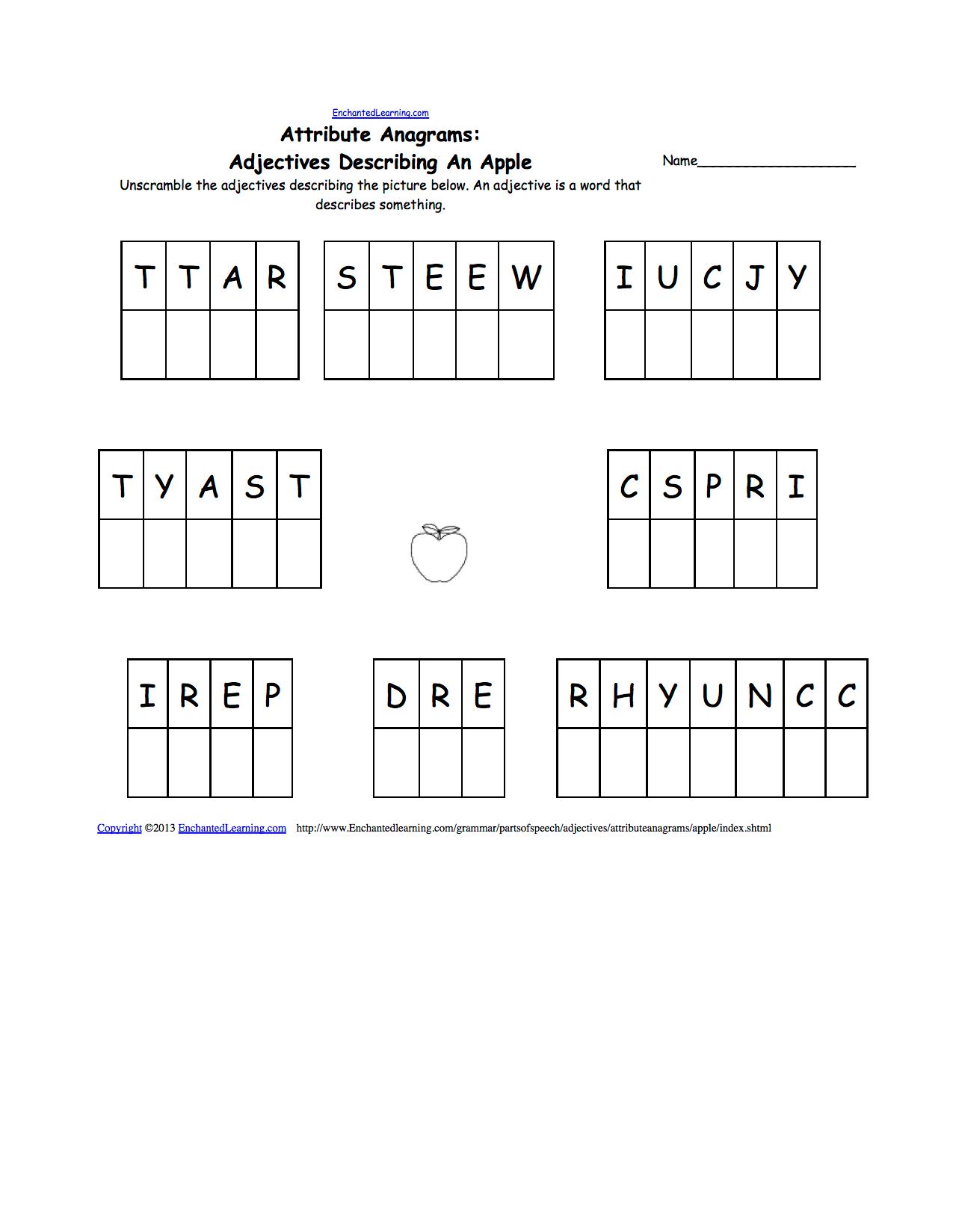 Thanksgiving Spelling Worksheets