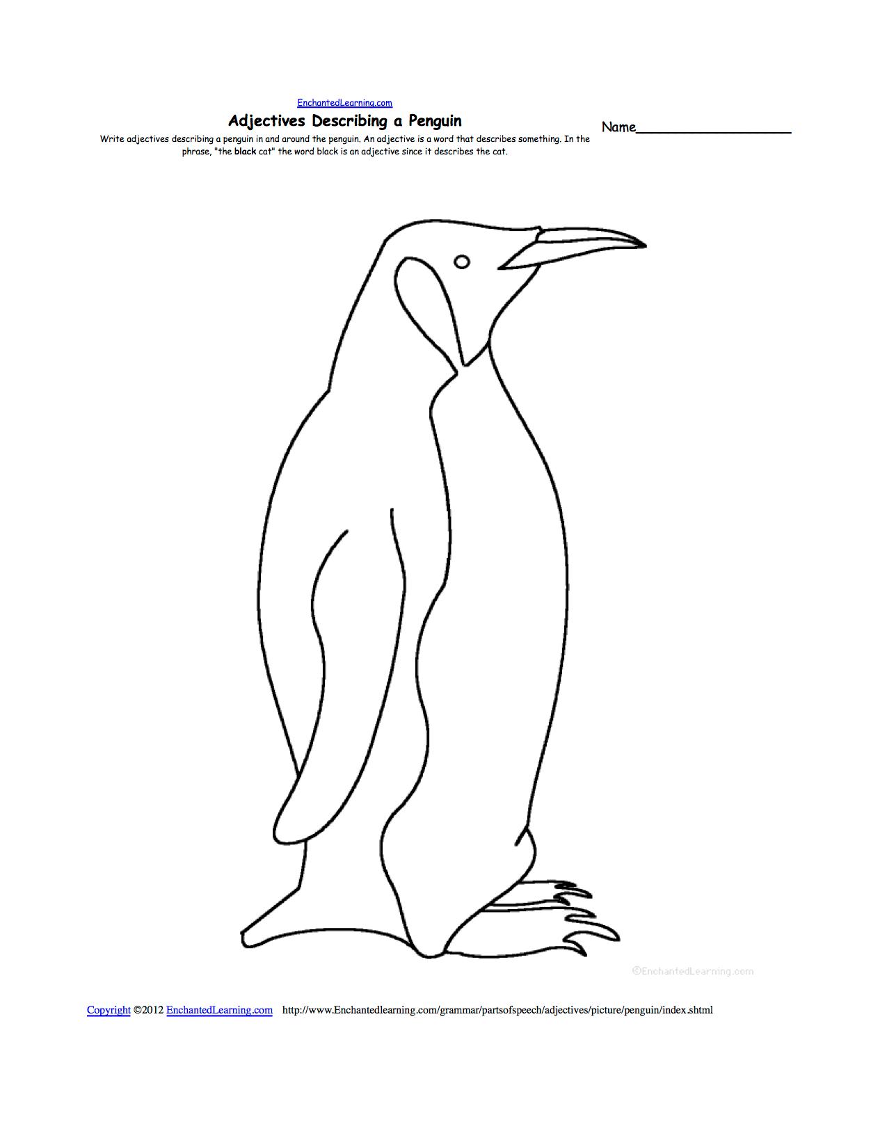 bird diagram unlabeled 1967 jeep cj5 wiring penguins at enchantedlearning