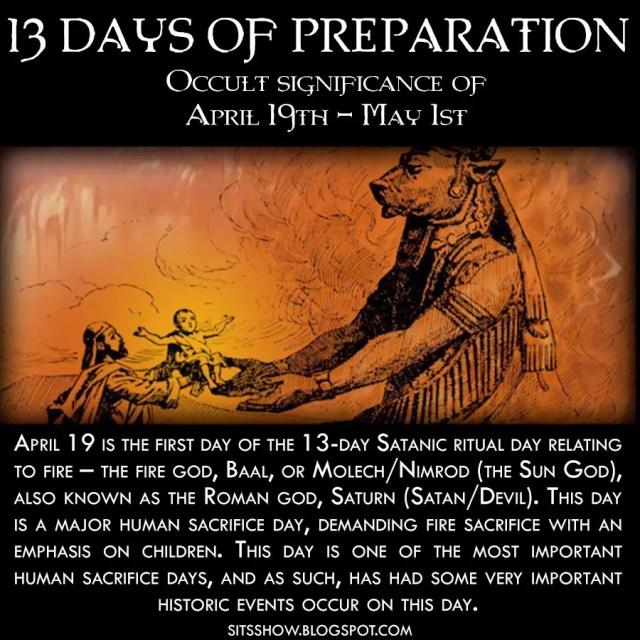 13 Days of Preparation April 19th - May 1st MEME