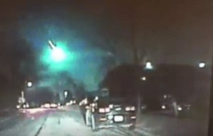 Meteor Caught On Police Car Dashcam Turns Whole Sky Green