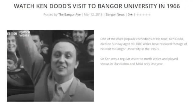 ken dodd Bangor university