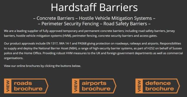 Westminster Crash Hoax Barriers Hardstaff Barriers