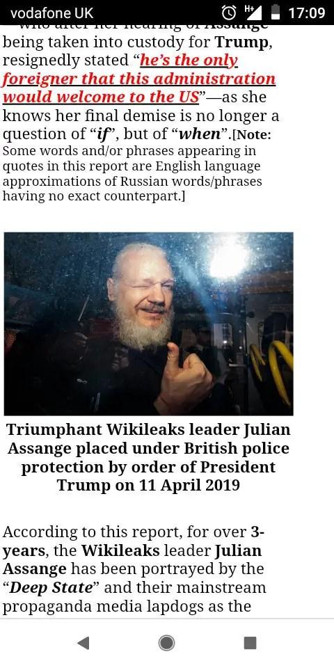 Assange working with Trump?