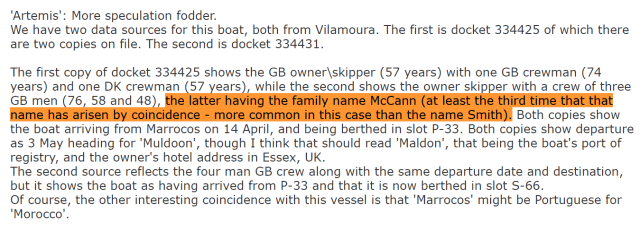 Madeleine McCann Untold Queen's Yacht Near Praia De Luz May 3, 2007