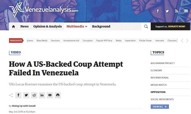 Failed US Coup attempt in Venezuela