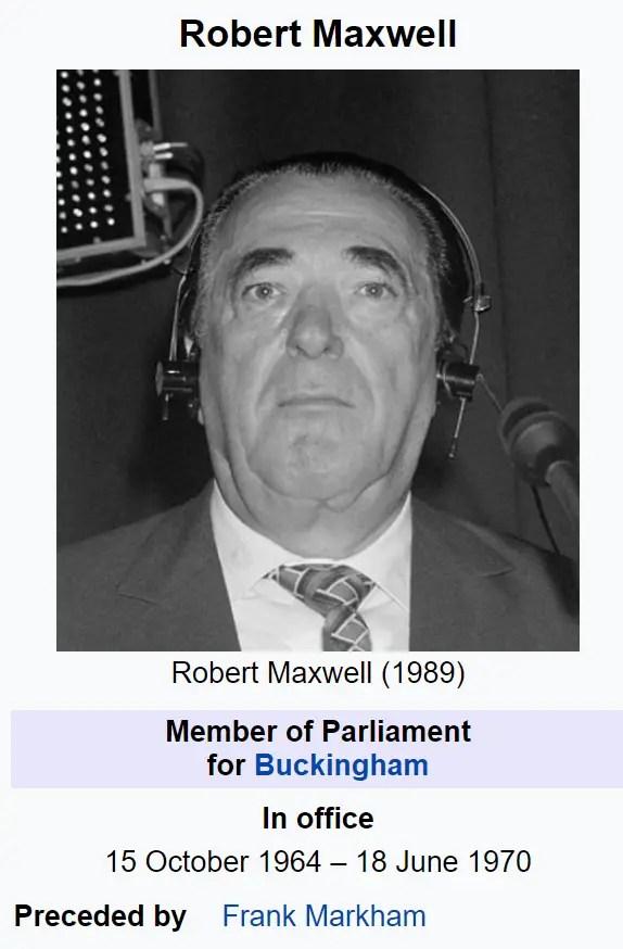 Robert Maxwell  Ghislaine Maxwell Jeffrey Epstein