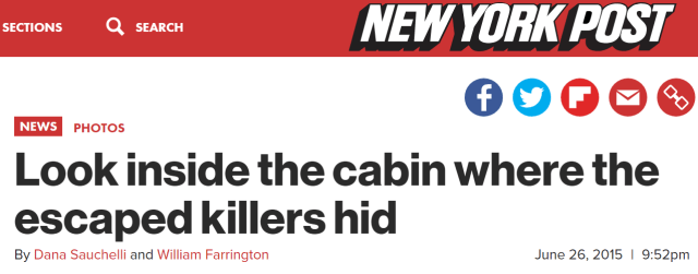 Look inside the cabin where the escaped killers hid By Dana Sauchelli and William Farrington June 26, 2015 | 9:52pm