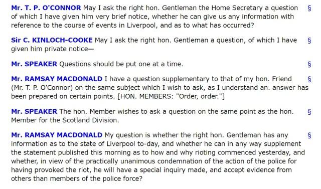1911 Liverpool Transprt strike Churchill questions