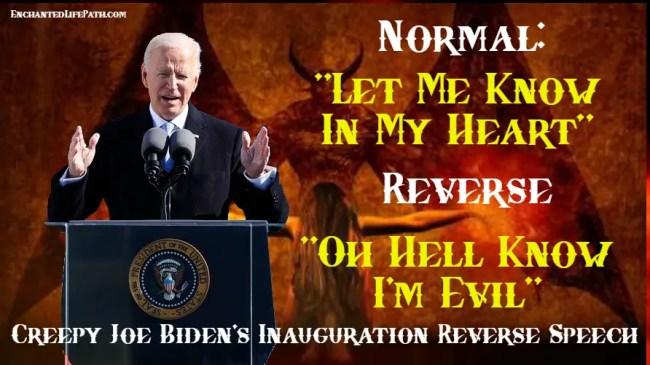 Joe Biden inauguration Reverse Speech