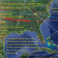 Summer Moon Utah Wells Ritual Map: Ben Hill To Bermuda - The Serpent Ley Line Twin 33rd Parallel