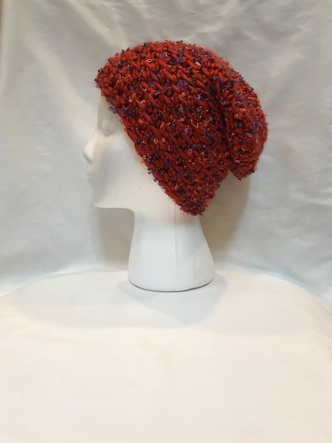 Red Chunky Slouch Hat