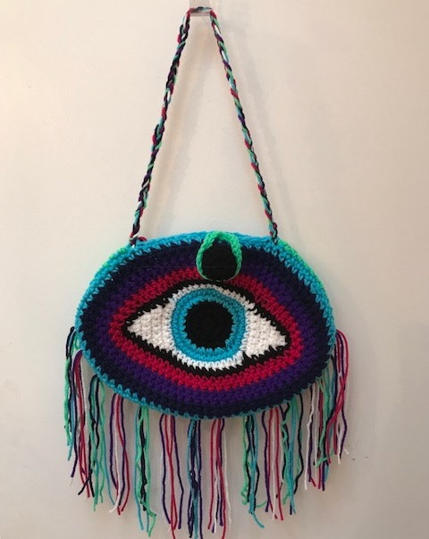 Crochet Evil Eye Handbag