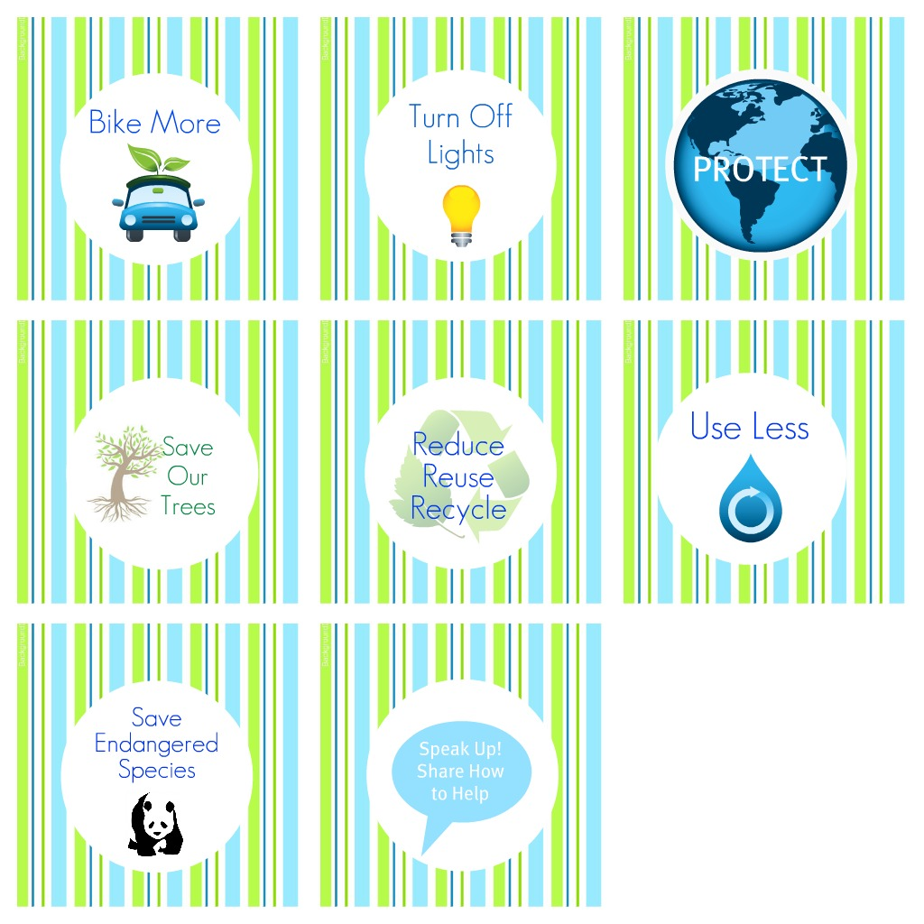 Free Earth Day Cupcake Toppers Enchantedyankee