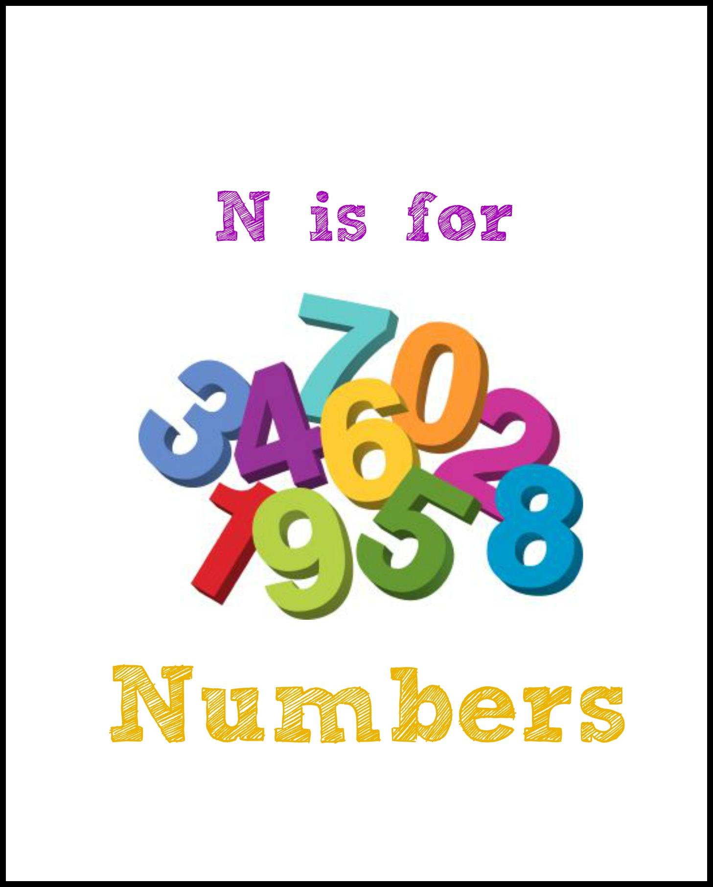 N Is For Numbers Enchantedyankee