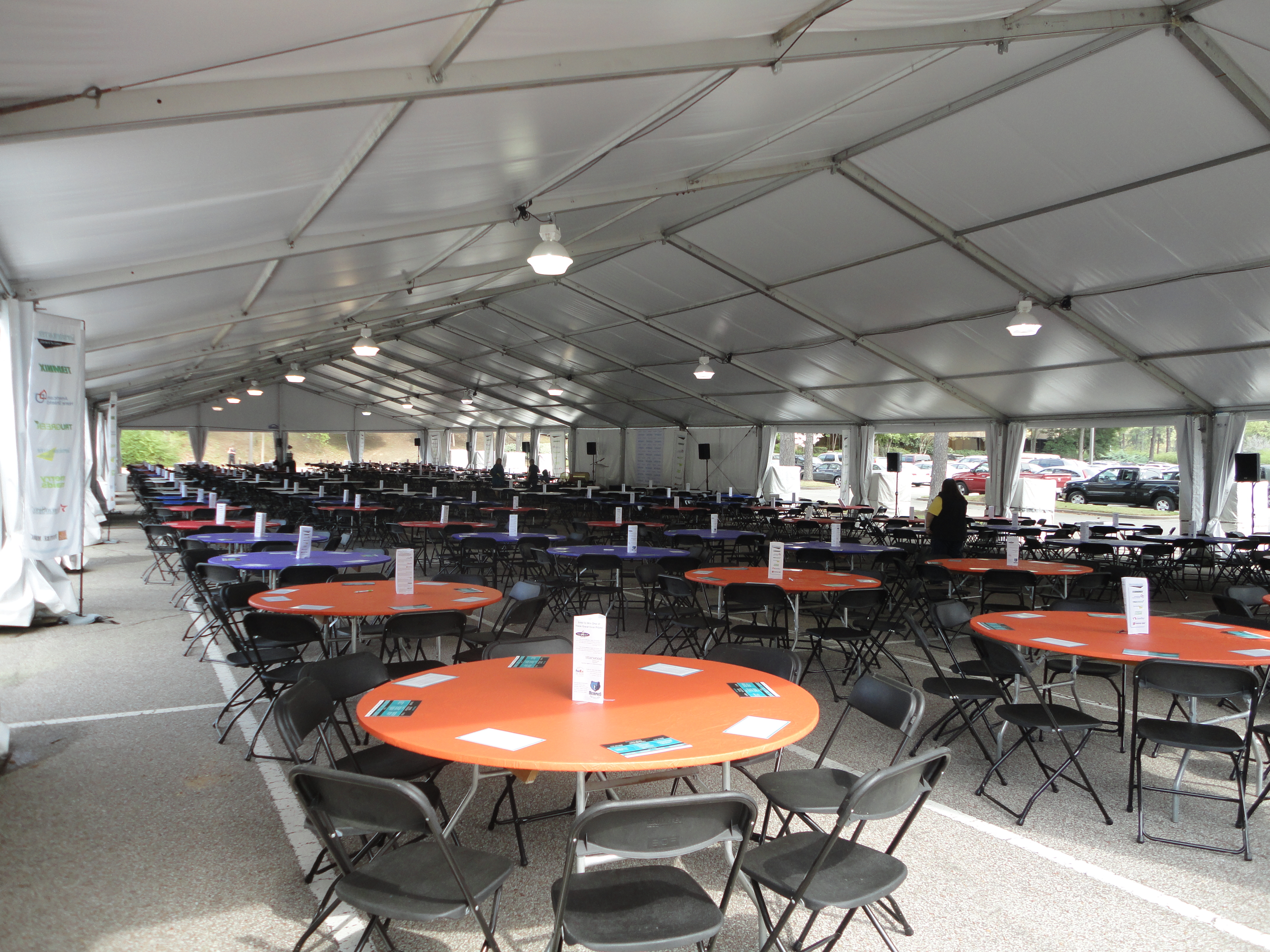 chair cover rentals memphis cat hammock under diy clearspan tent enchanting events