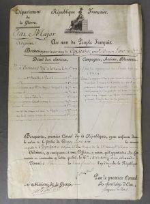 225. Document signé par BONAPARTE