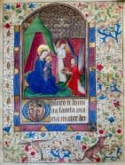 325. Livre d'heures manuscrit sur vélin, 14 enluminures. Vierge à l'enfant.