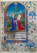 325. Livre d'heures manuscrit sur vélin, 14 enluminures. La Visitation.