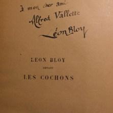 110. BLOY. Léon Bloy devant les cochons